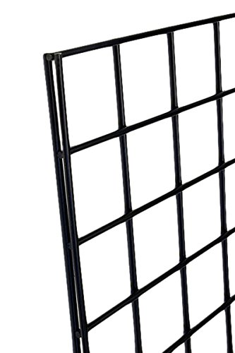 KC Store Fixtures A04205 Gridwall Panel, 2' W x 7' H, Black (Pack of 3)