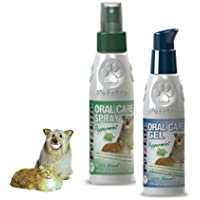 PetzLife SPRAY 4 oz (118 ml) and Petzlife GEL 4 oz (118 ml), Oral Care for dogs, cats, pets - Peppermint Flavor (control bad breath in dogs, cats, pets)
