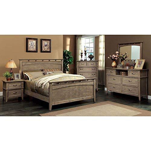 24/7 Shop at Home 247SHOPATHOME IDF-7351Q-6PC Bedroom Set, Queen, Oak (Bedroom Furniture Sets Queen Oak)