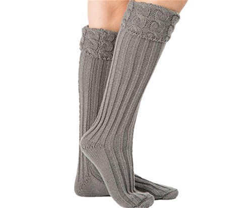 Price comparison product image JIANGTAOLANG Waterproof Boot Cuffs Knitted Long Leg Warmers Pure Color