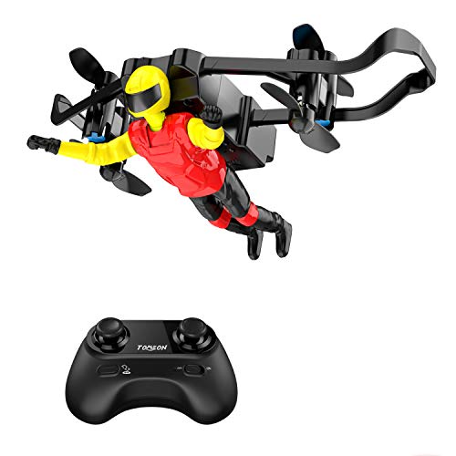 Drone Mini for Kid, Tomzon U48-B RC Stunt Doll with Paraglider Flight, One Key Demo, Altitude Hold, Nano RC Quadcopter for Adults