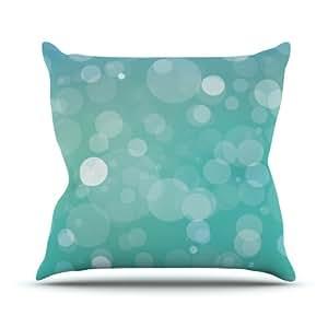 "Kess InHouse KESS Original ""Let it Go"" Aqua Bokeh Outdoor Throw Pillow, 16 by 16-Inch"