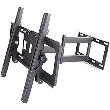 SUNYDEAL TV Wall Mount Bracket with Full Motion Double Articulating Arm for most 22-65 Inches LED, LCD and Plasma TVs up to VESA 400x400mm and 99 LBS, with Tilt, Swivel, and Level Adjustment