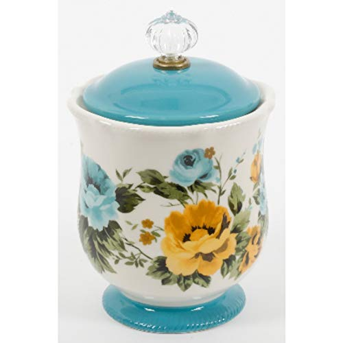 The Pioneer Woman Pioneer Rose Shadow Canister W Acrylic Knob