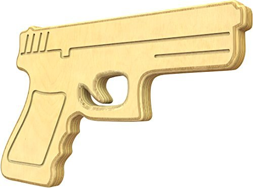 SturdiGuns Kids 9mm Pistol Wooden Toy Gun with Lifetime Guarantee, made in America, Extremely Durable