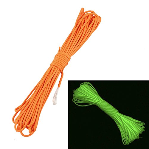 Glow-In-The-Dark Paracord Parachute Cord made our list of camping safety tips for families who RV and tent camp