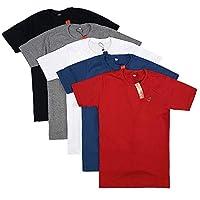 Kit Com 5 Camisetas Masculinas Básicas de Algodão