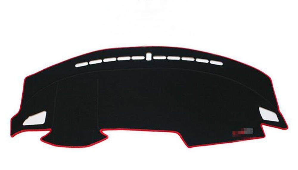 Salusy Black and Red Dashboard Dash Protector Dash Mat Sun Cover Pad For Honda Civic/Honda Civic Coupe 2016 2017 2018 2019/Honda Civic Hatchback 2017-2019