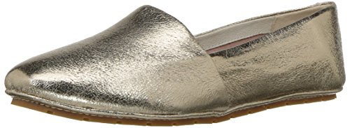 Kenneth Cole New York Women's Jordyn Flat Slip on Leather Moccasin Gold