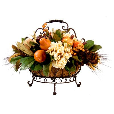 Single Tier Flower and Fruit Basket