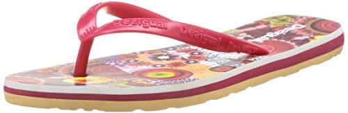 Desigual SHOES MANCHA - Sandalias de material sintético para mujer rojo - Rot (3080)