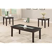Poundex 3 Piece Accent Table Set With Asymmetrical Center