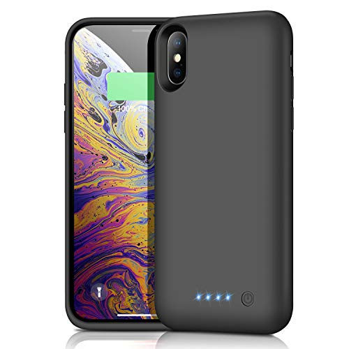 Battery Case for iPhone X/Xs/10 6500mAh, iPosible Portable Charging Case Rechargeable Extended Battery Pack for iPhone X/Xs(5.8 inch) Protective Backup Cover Charger Case Power Bank (Black)