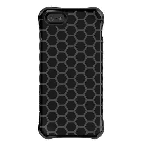- Ballistic AP1087-A025 Aspira Series Honeycomb Case for iPhone 5 - Retail Packaging - Black/Gray