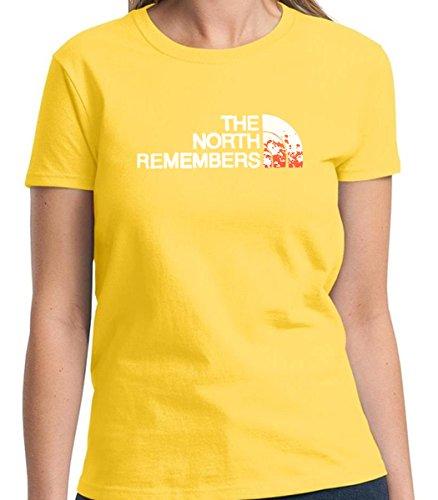 The North Remembers Humorous Women's Tshirt Short Sleeve Allure & Grace (Small, Daisy Yellow) (Great Gatsby Daisy Dress)