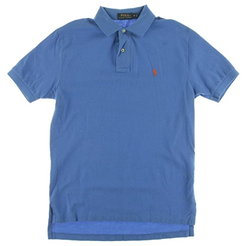 Polo Ralph Lauren Men's Polo Shirt Classic Fit (S, Cyan Blue) (Blue Classic Mesh Polo)
