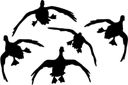 Ducks Geese Landing Vinyl Decal Duck Hunting Hunter Car Truck Window Bumper Sticker Choose Size and Color (White, 7x4.5) ()
