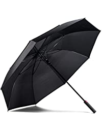 Golf Umbrella - Extra Large Double Canopy Umbrella, 62 Inch Coverage with Automatic Open, Windproof - Fast Drying Teflon Canopy