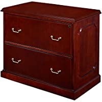 Prestige Veneer Two Drawer Lateral File - 38W Mahogany Finish Dimensions: 36W X 24D X 29H Weight: 137 Lbs
