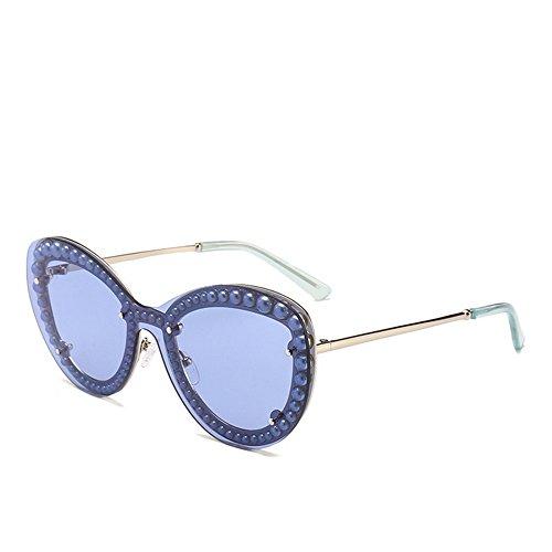 para Color de de Sol Libre Vacaciones de Las Rimmed los Ojos Mujeres la la Gafas Aire de de Protección Pearl al de la Peggy Playa Gu para Gato C7 C4 UV de Conducción SOAtnqH