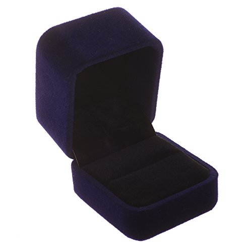 Cosmos Blue Color Velvet Ring Gift Box Jewelry Box