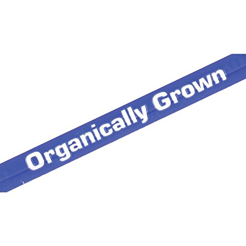 """Imprinted Produce Tie Blue Paper """"Organically Grown"""" 3/8""""..."""