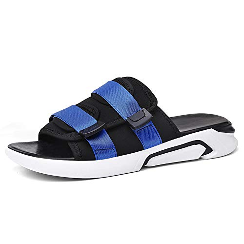 Hasag Zapatos Deportivos Cool Sandalias Casuales Beach Male Sandals and Slippers Outdoor Grueso Inferior Black blue