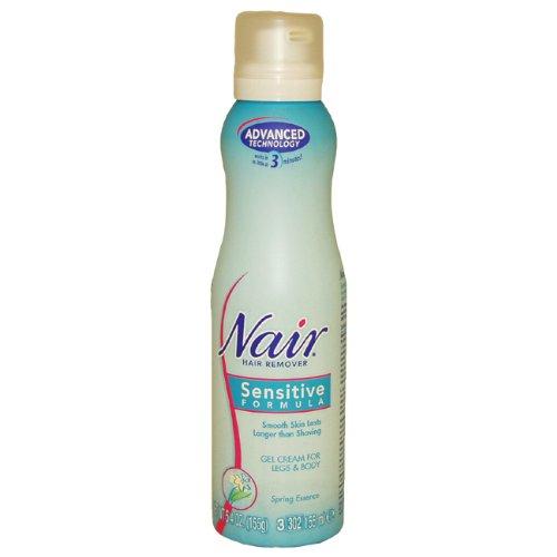 Sensitive Formula Gel Cream For Body Hair Remover Spring Essence by Nair for Women - 5.4 oz Cream