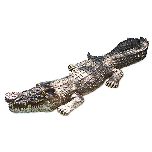 - Poolmaster 30-Inch Floating Crocodile Decoy for Pool, Pond, Garden and Patio