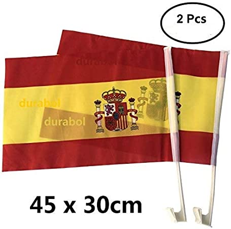 Durabol 2PCS Banderas De Coche España(30 * 45cm): Amazon.es: Hogar
