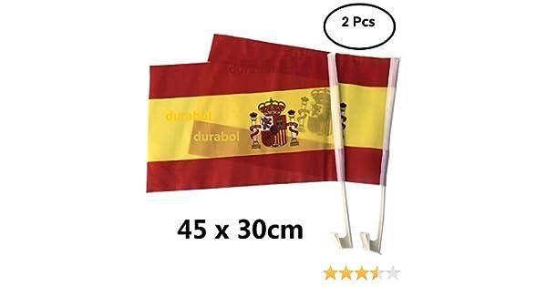 Durabol 2PCS Banderas De Coche Espa/ña 30*45cm