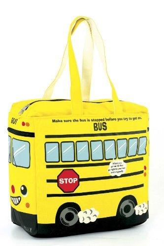 Canvas Yellow Bus Tote Bag - Yellow ()