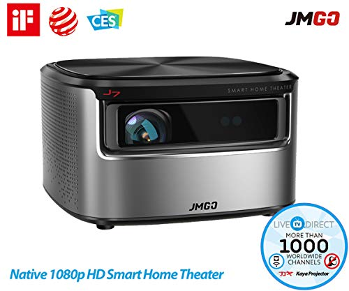 Projector, JmGO N7 Native 1080p HD Home Theater 3D DLP Projector Android Smart TV 3200 Lumens Built-in HiFi Stereo Bluetooth Speaker