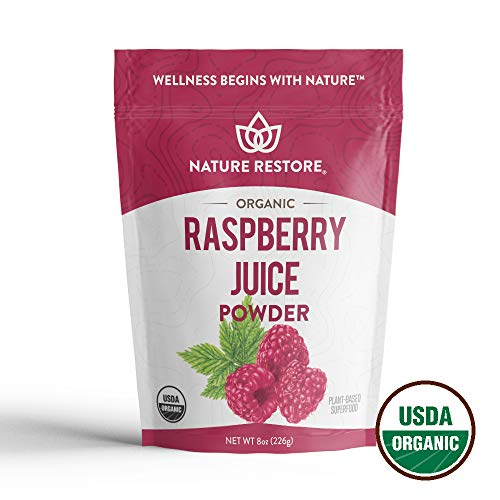 Nature Restore Organic Red Raspberry Juice Powder, Non-GMO (8 ounces)   - Juice Raspberry