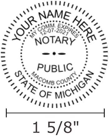 Pink Premium Notary Seal Embosser Michigan