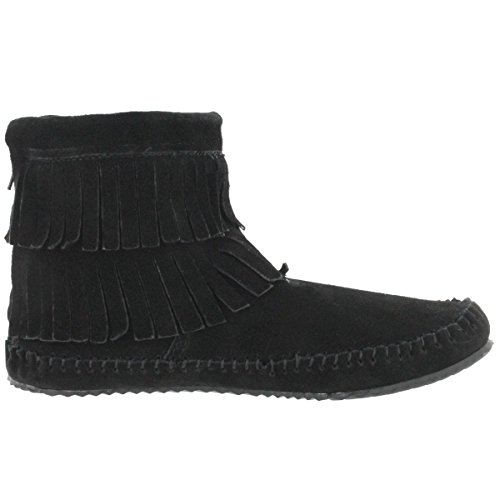 Debra Women's Moccasin Fringe Black Back Hi II SoftMoc Zip q5xwZdqC