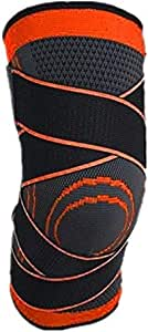 Silicone spring kneepad, knee pad compression with joint pain relief, improved cyclic compression - wear anywhere - single (male style)