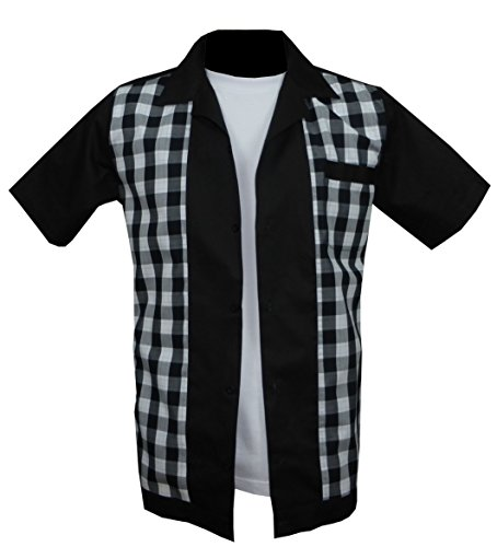 1950s / Sechzigerjahre Rockabilly, Bowling, Retro, Vintages Hemd der Männer