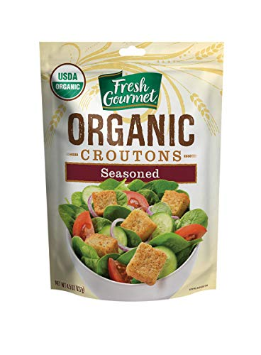 - Fresh Gourmet Specialty Croutons, Organic Seasoned, 4.5 Ounce (Pack of 9)