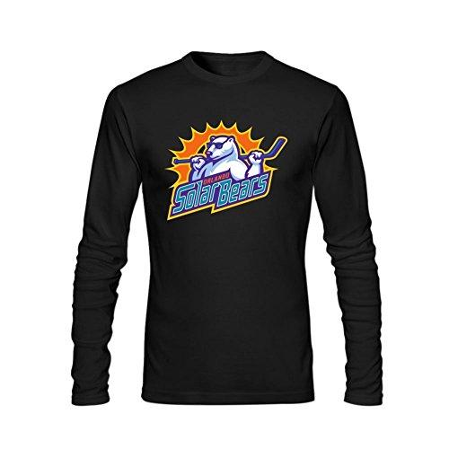 - Neversayso 2015 Hockey Orlando Solar Bears Logo Long Sleeve T Shirt For Men M Black