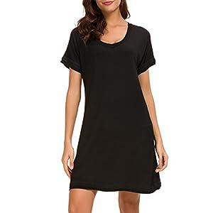 Dolay Nightdress Womens Cotton Sleepwear Short Nightgowns Knit Sleepshirts S-XXL