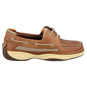 Sperry Top-Sider Lanyard 2-Eye Boat Shoe,Dark Tan/Orange,10.5 M US