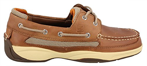 Sperry Top-Sider Lanyard 2-Eye Boat Shoe,Dark Tan/Orange,10 M US