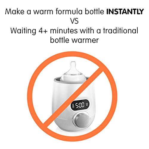 4167BPjSpGL - Baby Brezza Instant Warmer - Instantly Dispenses Warm Water At Perfect Baby Bottle Temperature - Replaces Traditional Baby Bottle Warmers