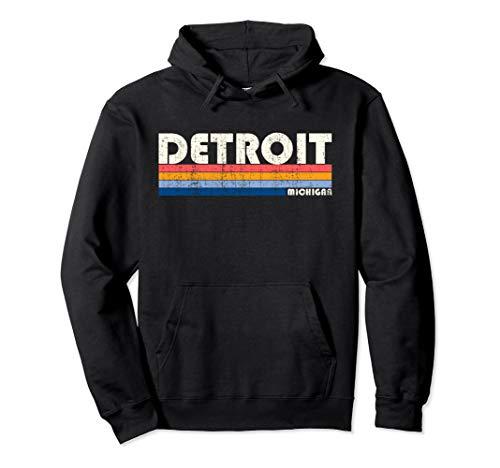 80s Style Detroit MI Hoodie