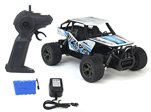The King Cheetah Turbo Remote Control Toy Rally Buggy RC Car 2.4 GHz 1:18 Scale Size w/ Working Suspension, Spring Shock Absorbers (1 18 Diecast Car Bugatti)