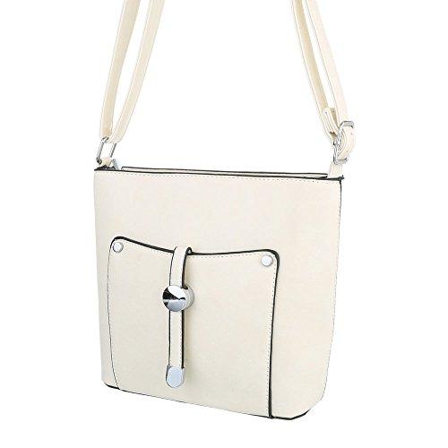 Taschen Umhängetasche Used Optik Creme