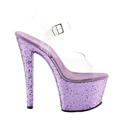 Pleaser 801 Glitter Sandali FLAMINGO Clr Donna Lavender HHnrOTpqxw