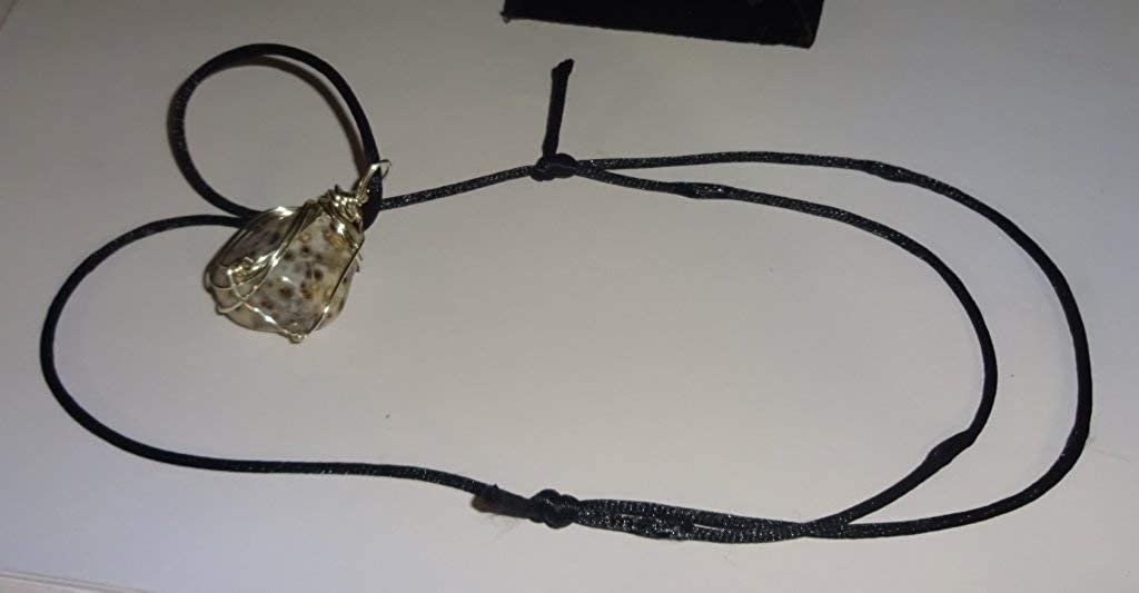 Spotted Agate tumbled /& polished custom metal wrapped crystal healing gemstone pendant /& Necklace