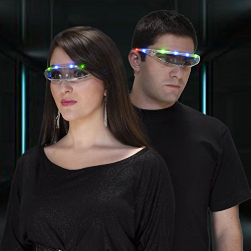 Futuristic LED Sunglasses (Set of - Sunglasses Blinking